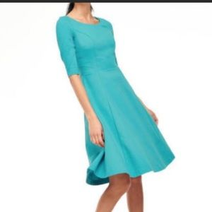 Boden fit and flare dress turquoise 8L